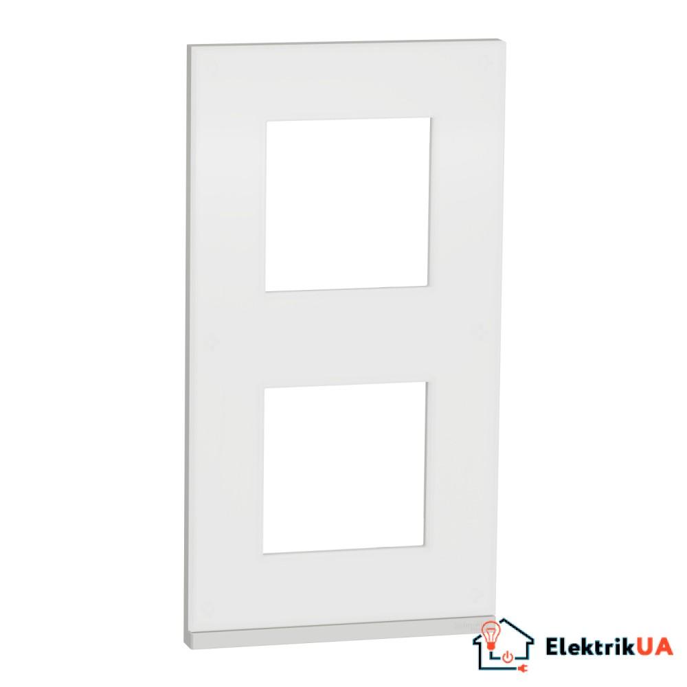 2 постова рамка вертикальна Unica Pure матове скло