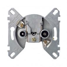 Механизм розетки телевизионная + радио конечная Merten D-Life (MTN466099)