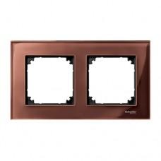 Двойная рамка Merten M-Elegance Махагон (MTN4020-3215)