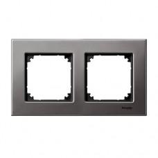 Двойная рамка Merten M-Elegance Родий (MTN403214)