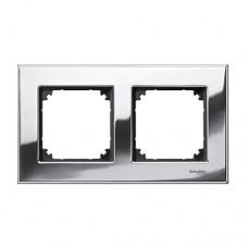 Двойная рамка Merten M-Elegance Хром (MTN403239)