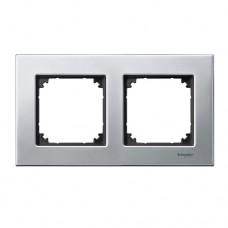 Двойная рамка Merten M-Elegance Платина (MTN403260)