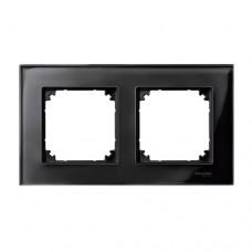Двойная рамка Merten M-Elegance Черный оникс (MTN404203)