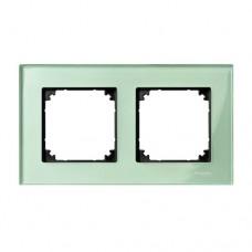 Двойная рамка Merten M-Elegance Изумруд (MTN404204)