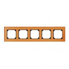 Пятерная рамка Merten M-Elegance Кальцит (MTN404502)