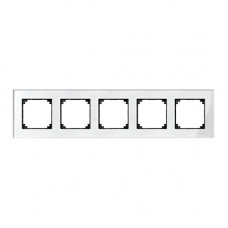 Пятерная рамка Merten M-Elegance Бриллиант (MTN404519)