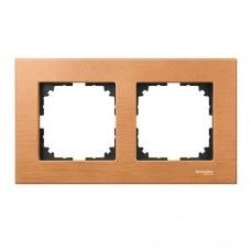 Двойная рамка Merten M-Elegance Бук (MTN4052-3470)