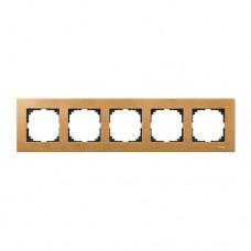 Пятерная рамка Merten M-Elegance Бук (MTN4055-3470)