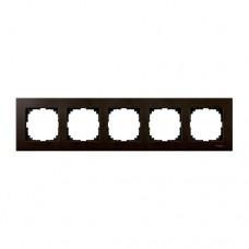 Пятерная рамка Merten M-Elegance Венге (MTN4055-3471)