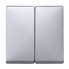 Выключатель 2-х клавишный Merten SD Алюминий (MTN412560)