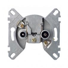 Механизм розетки телевизионной TV+R проходной Merten D-Life (MTN466098)