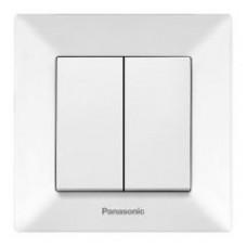 Выключатель Panasonic Arkedia Slim двухклавишный белый