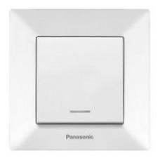 Выключатель Panasonic Arkedia Slim одноклавишный с подсветкой белый