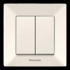 Выключатель Panasonic Arkedia Slim двухклавишный кремовый