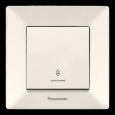 Выключатель Panasonic Arkedia Slim одноклавишный проходной с подсветкой кремовый