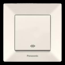 Выключатель Panasonic Arkedia Slim одноклавишный перекрестный кремовый