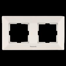 Рамка Panasonic ARKEDIA SLIM двойная горизонтальная  кремовая