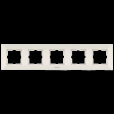 Рамка Panasonic ARKEDIA SLIM пятиместная горизонтальная  кремовая
