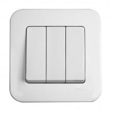 Выключатель трехклавишный VIKO Rollina Белый (90420068)