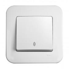 Выключатель проходной одноклавишный VIKO Rollina Белый (90420004)