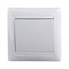 Выключатель одноклавишный Lemanso Сакура Белый (LMR1001)