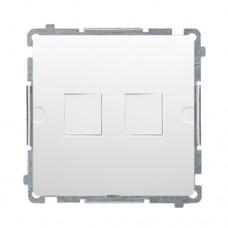 Адаптер компьютерной розетки Simon Basic Белая (BMPT/11)