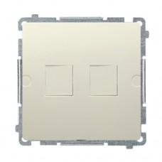 Адаптер компьютерной розетки Simon Basic Бежевая (BMPT/12)