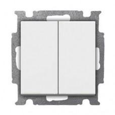 Выключатель двухклавишный ABB Basic55 10A Белый (2006/5 UC-92-507)