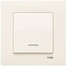 Выключатель с подсветкой VIKO Karre Крем (90960119)