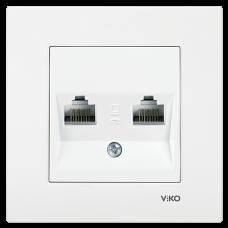 Розетка компьютерная двойная VIKO Karre Белый (90960034)