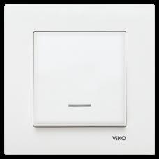 Выключатель с подсветкой VIKO Karre Белый (90960019)