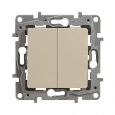 Выключатель двухклавишный Legrand Etika 10A Слоновая кость (672302)