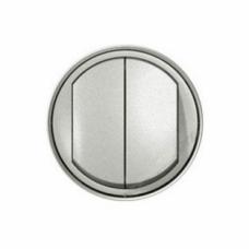 Лицевая панель 2-клавишного выключателя Legrand Celiane Титановая (68302)
