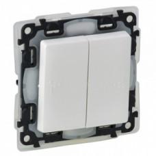 Выключатель 2-х клавишный Legrand Valena Life 10 А 250 В IP44 Белый (752155)