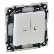 Выключатель проходной 2-х клавишный Legrand Valena Life 10 А 250 В IP44 с подсветкой Белый (752159)