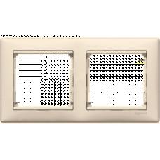 Рамка 2 поста Legrand Valena слоновая кость (774352)