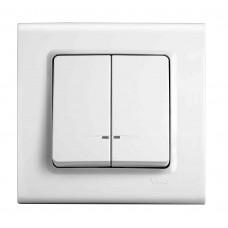 Выключатель с подсветкой двухклавишный VIKO Linnera Белый (90400050)