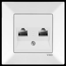 Розетка компьютерная двойная VIKO Meridian Белый (90970134)