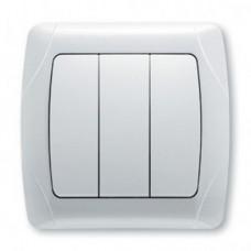 Выключатель 3-х клавишный VIKO Carmen Белый (90561068)