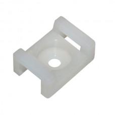 Площадка для кабельных стяжек с монтажным отверстием 22*15*9*5 мм (упаков - 100шт) APRO