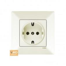 Розетка VIKO Meridian (с заземлением) Крем (90970208)