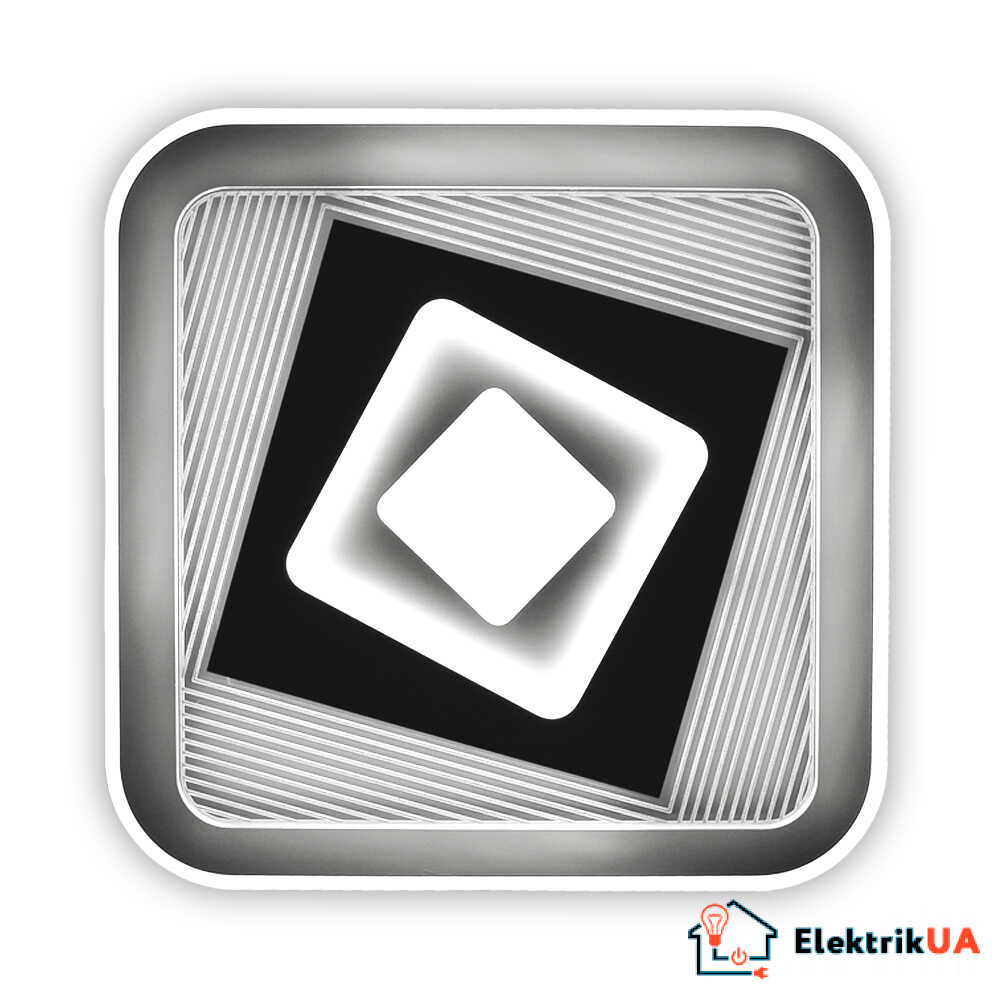 Світильник LED smart FUSION+пульт 100W 3000-6000K IP20 квадрат