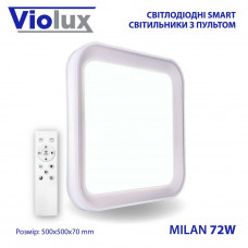 Светильник LED smart MILAN + пульт 72W 3000-6000K IP20 квадрат