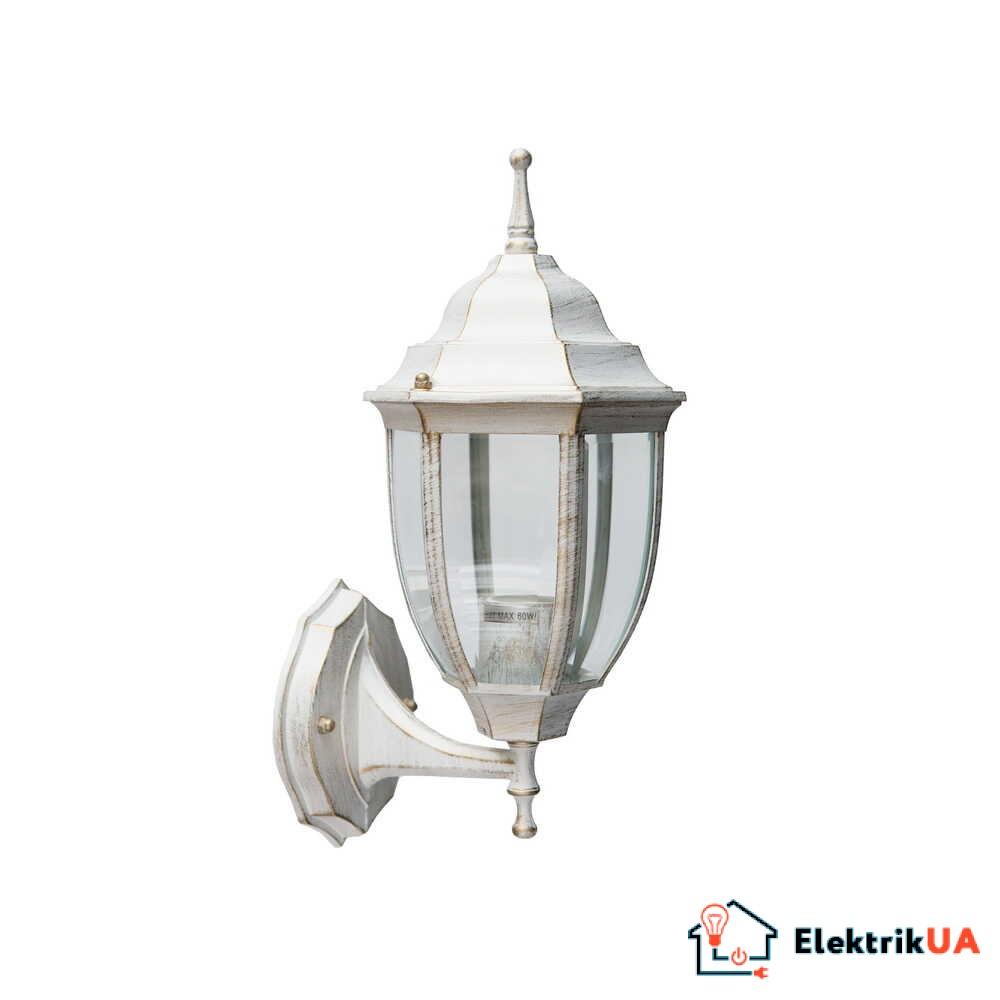 Світильник садово-парковий Violux Prag-D античний білий 60W Е27 IP44